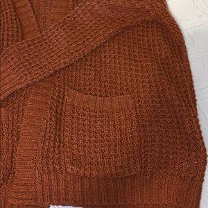 Mossimo Supply Co. Sweaters - Burnt Orange Knit Cardigan